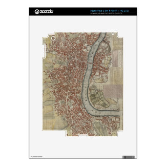 A New and Exact Plan of the Cities of London and W iPad 3 Decal