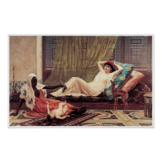 A New Attraction in the Harem, Frederick Goodall Poster