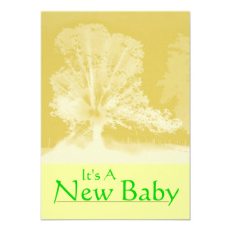 A New Baby Announcement Card