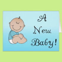 A New Baby - Boy Card