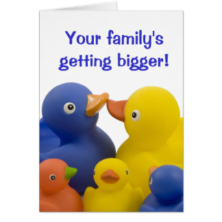 A new baby in the family -  Duck Family Group Card