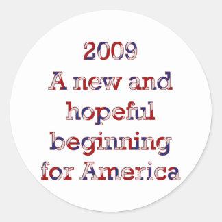 A new beginning classic round sticker