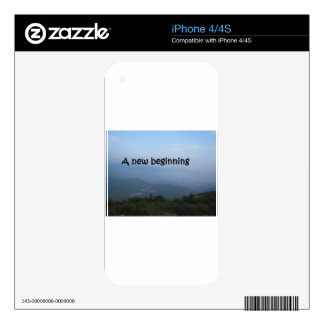 A new beginning iPhone 4S decal