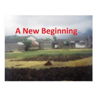 A new beginning postcard
