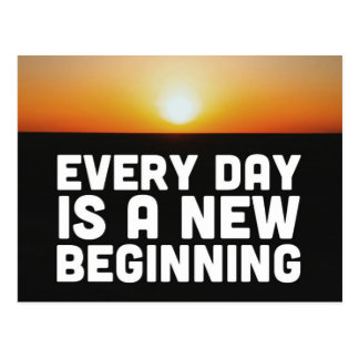 A New Beginning Quote Postcard