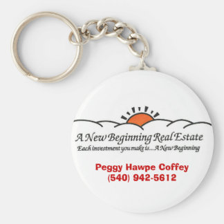 A New Beginning Real Estate Keychain