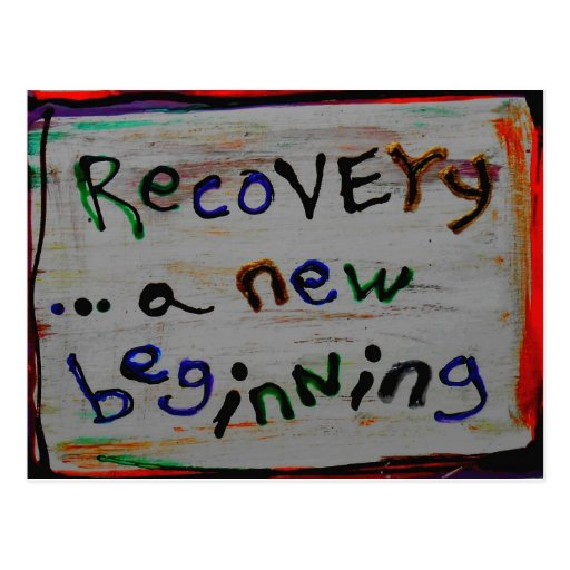 a new beginning recovery postcards