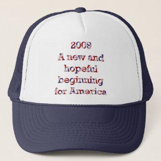 A new beginning trucker hat