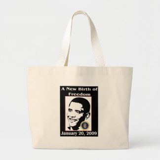 A NEW BIRTH OF FREEDOM Obama Inauguration Day Canvas Bag