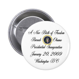 A New Birth of Freedom President Obama Button