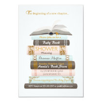 A New Chapter | Baby Book Shower Invitation