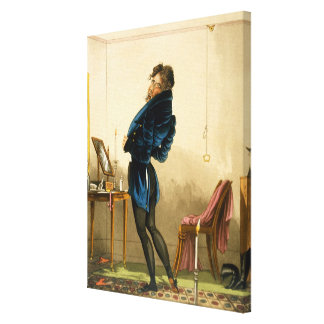 A New Coat (colour litho) Canvas Print