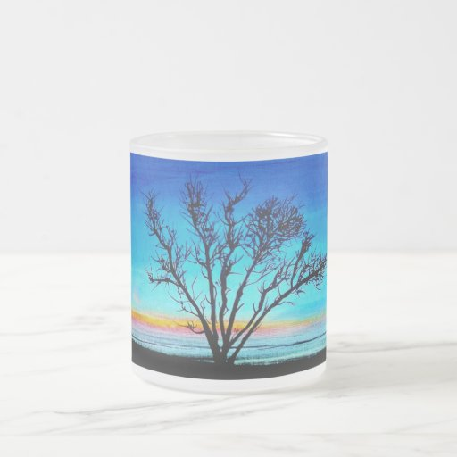 """""""A New Dawn"""" by Viktor Tilson 10 Oz Frosted Glass Coffee Mug"""