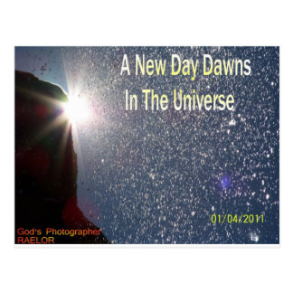 A New Day Dawns On The Universe (Logo For RAELOR) Postcard