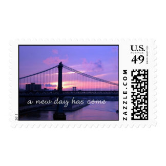 a new day postage stamps