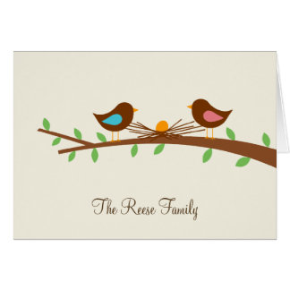 A New Egg Baby Thank You Card Greeting Cards