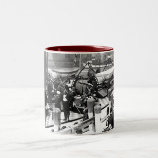 A New Fireboat for New York Two-Tone Coffee Mug