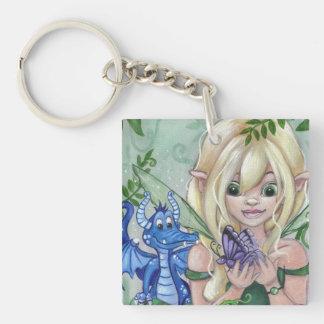 """""""A New Friend"""" fairy dragon fantasy keychain"""