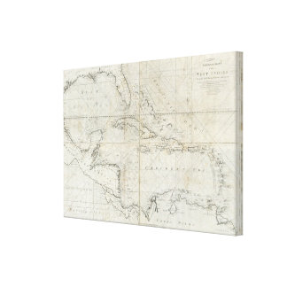 A new general chart of the West Indies Canvas Print