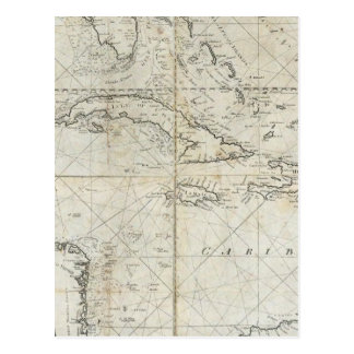 A new general chart of the West Indies Postcard