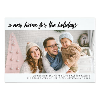 A New Home for the Holidays | Modern Photo Card