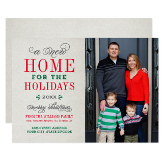 A New Home | Holiday Photo Card