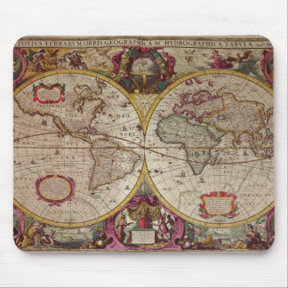A New Land and Water Map of the Entire Earth Mouse Pad