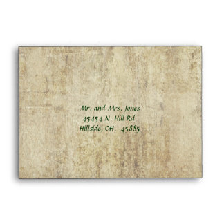 A New Life Begins Today RSVP Envelope
