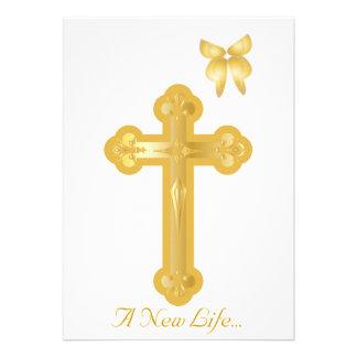 A New Life Christening Invitation-Customize