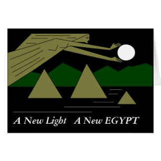 A New Light A New EGYPT Card
