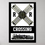 A New Look, Of A Railroad Crossing Sign Print