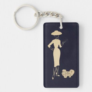 A New Look Vintage 1950s Fashion Keychain