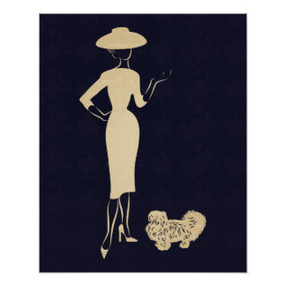 A New Look Vintage 1950s Fashion Poster