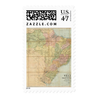A new map of Brazil Postage