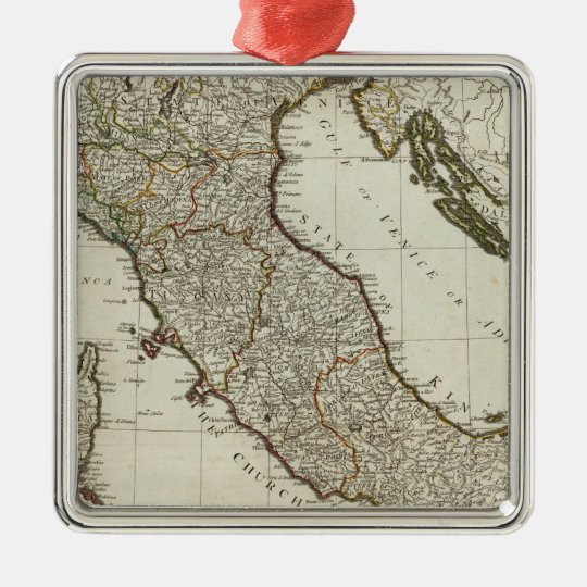 A new map of Italy with the islands of Sicily Metal Ornament