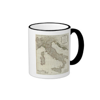 A new map of Italy with the islands of Sicily Ringer Coffee Mug