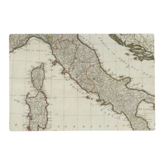 A new map of Italy with the islands of Sicily Laminated Placemat