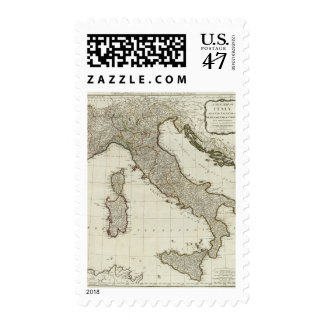 A new map of Italy with the islands of Sicily Postage