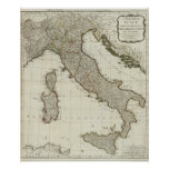 A new map of Italy with the islands of Sicily Poster