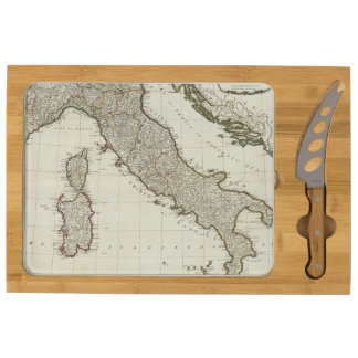 A new map of Italy with the islands of Sicily Rectangular Cheese Board