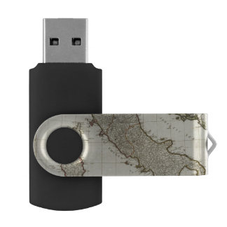 A new map of Italy with the islands of Sicily Swivel USB 2.0 Flash Drive