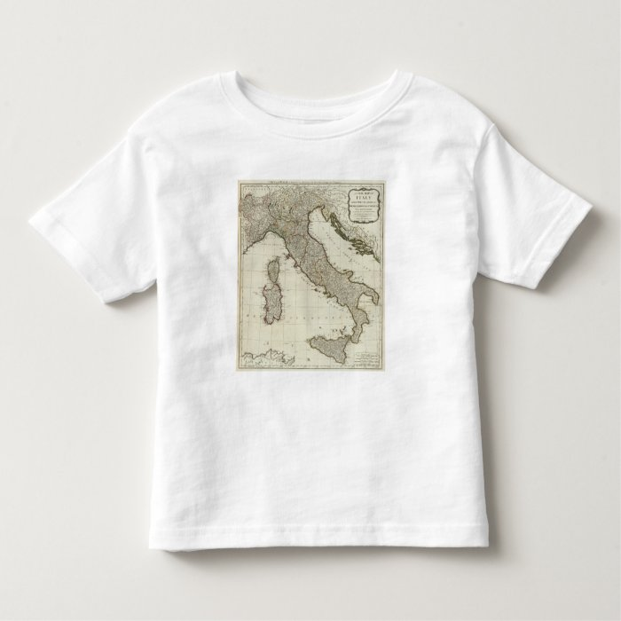 A new map of Italy with the islands of Sicily Toddler T-shirt