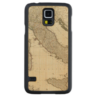 A new map of Italy with the islands of Sicily Carved® Maple Galaxy S5 Slim Case