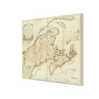 A New Map of Nova Scotia, and Cape Breton Island Canvas Print