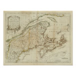 A New Map of Nova Scotia, and Cape Breton Island Poster