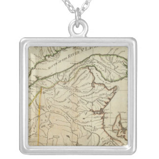 A New Map of Nova Scotia, and Cape Breton Island Silver Plated Necklace