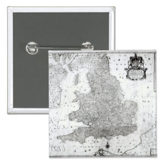 A New Map of the Kingdom of England Pinback Button