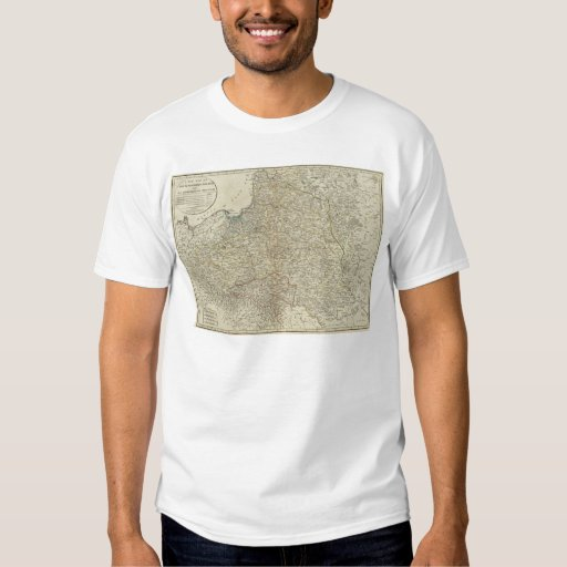 A new map of the Kingdom of Poland T-shirts