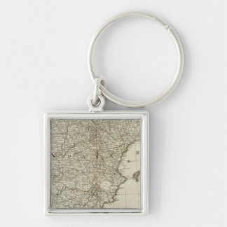 A new map of the Kingdoms of Spain and Portugal Keychain