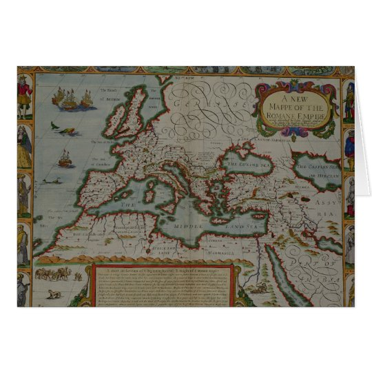 A New Map of the Roman Empire Card